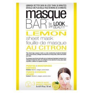 Masque Bar™ by Look Beauty™ Purifying Sheet Mask - Lemon Essence - 3ct