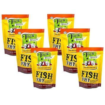 Joe's Gourmet Fish Fry Seasoning Mix - As Seen On Shark Tank (Original, 6 Pack)