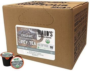 Maud's Coffee Maud's Gourmet Tea Pods - Uncle Earl's Going Grey Tea, 100-Count Recyclable Single Serve Pods - Carefully Sourced & Blended - Sealing in the Freshness - Kcup Compatible, Including 2.0