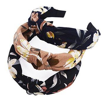 STHUAHE 3PCS Hair Bands,Women Handmade Sweet and Lovely Style Cloth Cross Knot Hair Hoop Hairband Headband Headwear Hair Accessories by Beauty Hair