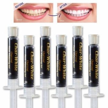 Natural Teeth Whitening Charcoal Gel - Spearmint Flavor - Organic Charcoal Activated Teeth Whitener - No need for Strips, Kits or Gel - Made in Usa