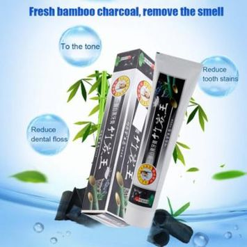160G Natural Bamboo Charcoal Toothpaste Healthy Whitening Remove Smoke Stains Oral Care Cleaning Toothpaste