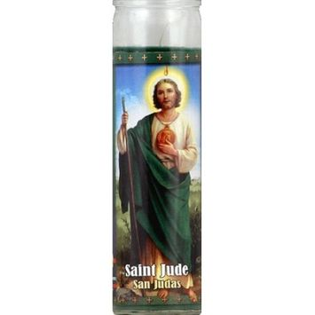 St. Jude Candle Company Saint Jude Green Candle, 8.1 oz, (Pack of 12)