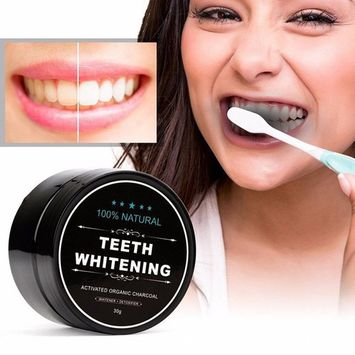 Toothpaste 100% Natural Teeth Whitening Whitener Activated Organic Charcoal Powder Polish Teeth Clean Strengthen Enamel Health Care Black