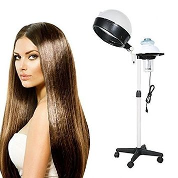 Hair Steamer Dryer, Hindom Professional Salon Portable Bonnet Color Processor with Adjustable Rolling Floor Stand 110V(US STOCK)