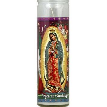 St. Jude Candle Company Virgen de Guadalupe White Candle, 8.1 oz, (Pack of 12)