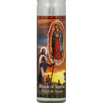 St. Jude Candle Company Miracle of Tepeyac White Candle, 8.1 oz, (Pack of 12)