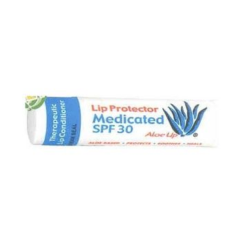 Aloe Up Medicated Lip Balm SPF 30 3 Pack by Unique Sports Accessories