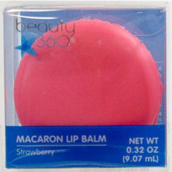 Beauty 360 Macaron Lip Balm, Strawberry, .32OZ