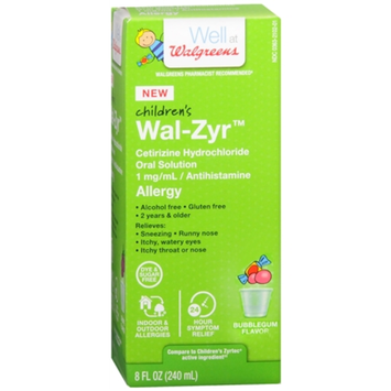 Walgreens Wal-Zyr Children's Allergy Liquid Sugar Free Bubblegum