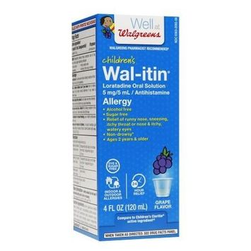 Walgreens Wal-Itin Children's Allergy Oral Solution Grape - 4 oz.