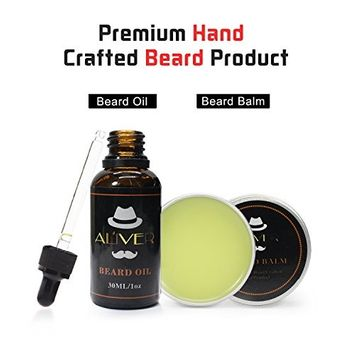 Beard Oil and Beard Balm Kit for Men Care, All Natural Beard Conditioner - Style, Shape and Moisturize Beard, Mustache & Skin, Great Gifts For Men, 1.0 fl.oz + 1.0 oz
