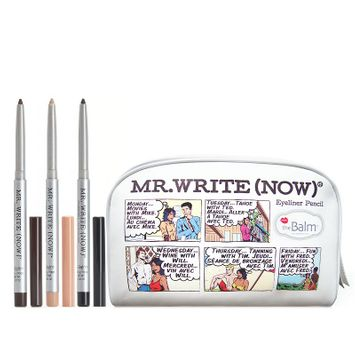 Thebalm the Balm Mr. Write Now 3-pc. Eyeliner Pencil & Bag Gift Set, Black/Beige/Brown (Onyx/Beige/Mocha)