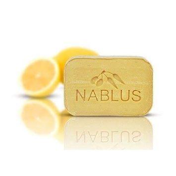 Natural Extra Virgin Olive Oil Soap Bar Lemon Oil from Palestine Nablus Soap Natural For Dry Skin Care, Extra Gentle, Handmade 3.5 oz