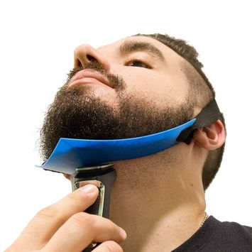 Aberlite Beard Shaper - FlexShaper Neckline Guide - Hands-Free & Flexible - The Ultimate Neckline Beard Shaping Template (Blue) - Beard Trimmer Tool - Lineup Stencil Kit