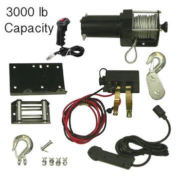 Rareelectrical 3000 LB WINCH KIT & REMOTE FIT POLARIS ARCTIC CAT CANAM ATV 10901