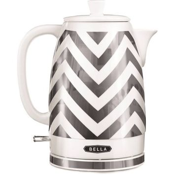 BELLA 14537 Electric Ceramic Kettle, SilverChevron