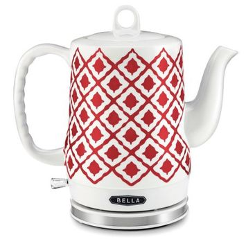 Bella Ikat 1.2 l Electric Ceramic Kettle in Red, White/Red