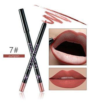 Creazy Huamianli 12 Colors Professional Lipliner Makeup Waterproof Lip Liner Pencil (G)