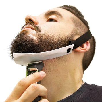 Aberlite Beard Shaper - FlexShaper Neckline Guide - Hands-Free & Flexible - The Ultimate Neckline Beard Shaping Template (Patent Pending)(White)- Beard Trimmer Tool - Lineup Stencil Kit