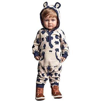 Efaster(TM) Baby Boy Girl Winter Cartoon Hoodie Romper Warm Coat Outwear Clothes