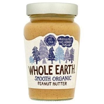 Whole Earth Organic Smooth Peanut Butter No Added Sugar (340g)