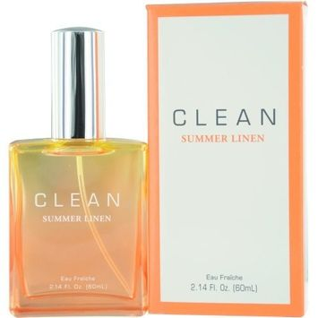 Clean Summer Linen Eau Fraiche Spray for Women by Dlish, 2.14 Ounce