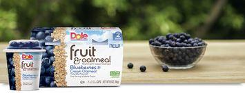 Dole Fruit & Oatmeal Blueberries & Cream Oatmeal