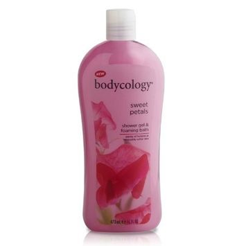 Bodycology Shower Gel and Bubble Bath, Sweet Petals, 16-Fluid Ounce (Pack of 2)
