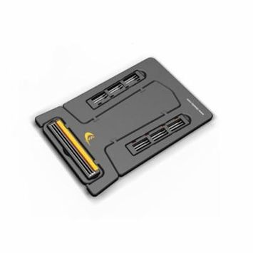 Pocket Cassette Shaver Folding Card Type Razor Black Top Mini Razor with Mirror