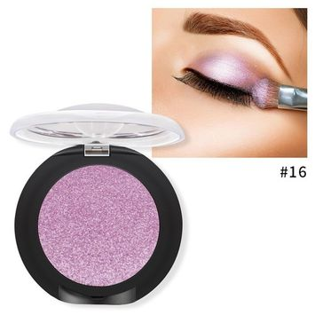 Single Baked Eyeshadow 12 Color Classy Intensity Shimmer Pearl Eye Shadow Highlighter Pigment Diamond Glitter Makeup Powder (16#)