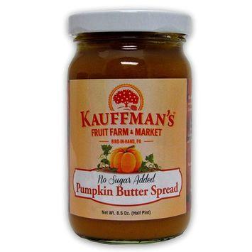 Kauffman's Homemade Pumpkin Butter, No Sugar Added, 8.5 Oz. Jar (Pack of 2 Jars)