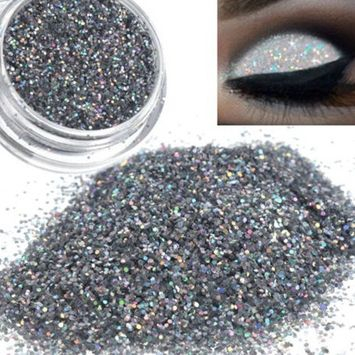 Glitter Loose Eyeshadow Dust Powder Hosamtel Party Shimmer Metallic Sparkly Silver Pigment