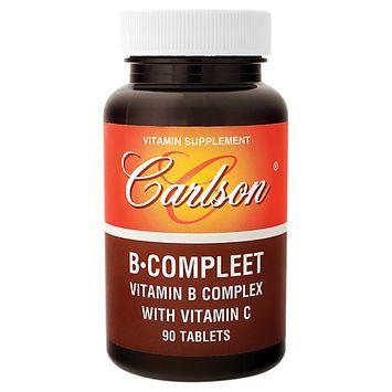Carlson Laboratories B Compleet - 90 Tablets - Vitamin B Complex