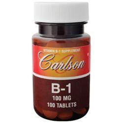 Carlson Laboratories B-1 100 MG - 100 Tablets - Vitamin B-1