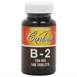 Carlson Laboratories B-2 100 MG - 100 Tablets - Vitamin B-2