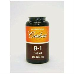 Carlson Laboratories B-1 100 MG - 250 Tablets - Vitamin B-1