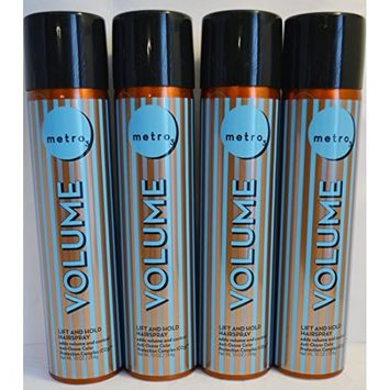 Metro3 Volume Lift and Hold Hairspray 10oz (4 Pack)
