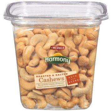 Emerald Harmony Cashews, Roasted & Salted, 11.5-Ounce Tubs (Pack of 3)