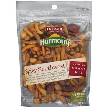Emerald Harmony Spicy Southwest Snack Mix, 6-Ounce Bags (Pack of 12)