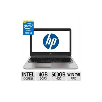 HP ProBook 650 G1 Notebook PC - Intel Core i3 4100M 2.5GHz Dual-Core, 4GB DDR3, 500GB HDD, 15.6