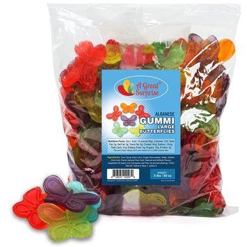Gummy Butterflies Candy - Gummi Butterflies - Large Gummy Butterfly - Bulk Candy Gummies 5 LB