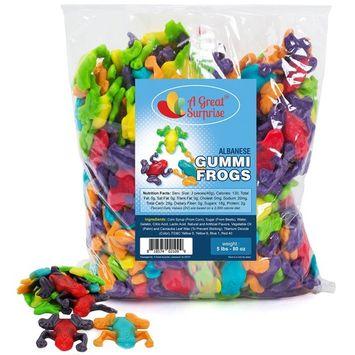 Gummy Frogs - Gummi Rainforest Frogs - Gummy Frogs Candy - Bulk Candy - 5 LB