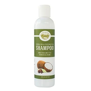 Shampoo - Jojoba Oil, Coconut Oil - Sulfate Free – 8 fi. Oz – Best for Dry to Normal Hair – Daily Shampoo - Made with All Natural Organic Ingredients