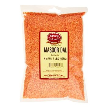 Spicy World Masoor Dal Split Red Lentils 2 lbs