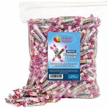 Smarties Candy Rolls Bulk - X-Treme Sour Flavored Candies, 4LB Party Bag, Family Size, Bulk Candy [4 LB. X-treme Sour]