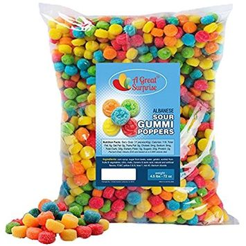 Sour Candy – Sour Gummies – Sour Poppers – Smile Candy – Bulk Candy – 4.5 Pounds