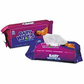 Royal Baby Wipe Unscented Refill Packed 12/80 - 960 / Carton - White (rpbwur80)