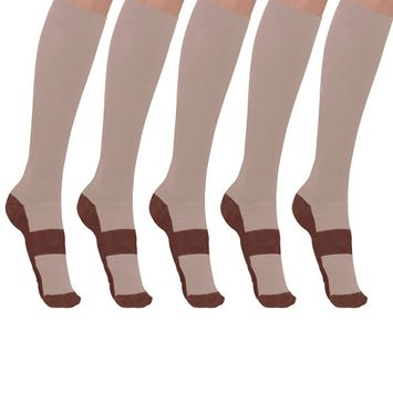 Tonewear copper-infused Knee High Anti Fatigue compression socks For Men & Women