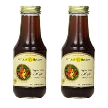 Natures Hollow Sugar-Free Maple Flavored Syrup, 10 Ounce (Pack of 2)